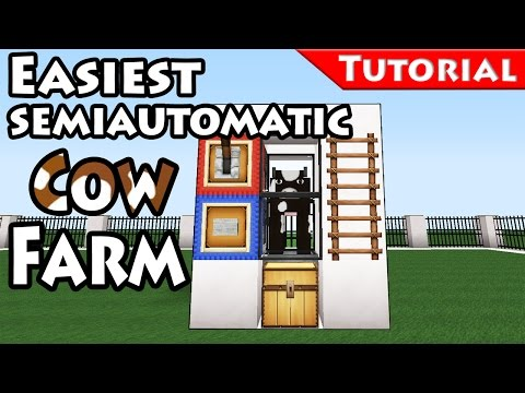 Easy cow breeder - cooker -/Minecraft / How to make / farm /