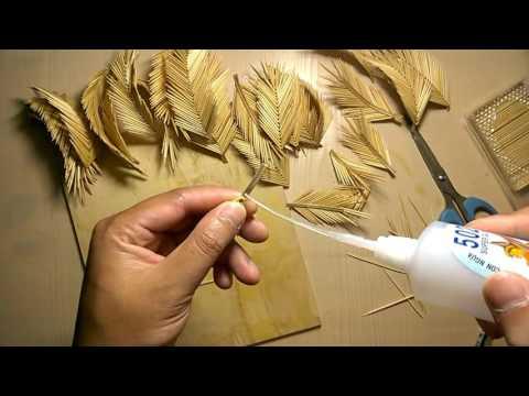 Hướng dẫn làm cây dừa bằng tăm tre How to make coconut tree from toothpick