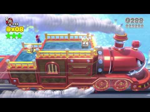 Super Mario 3D World: 3-BOSS The Bullet Bill Express (All Stars & Stamp)