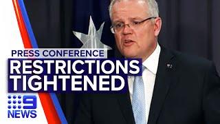Coronavirus: Government announces tighter restrictions and advises on tenants | Nine News Australia