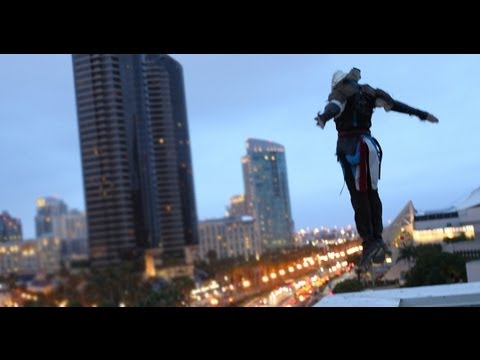 Assassin's Creed 4 Meets Parkour In Real Life - Comic-con - 4k video