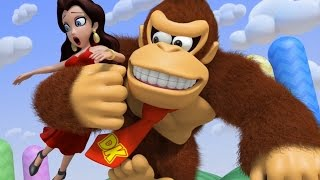 Mario vs Donkey Kong: Tipping Stars 100% Walkthrough Part 9 - Bonus Levels 1-8 (Bonus World 1)