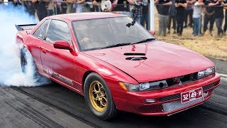 1500HP 2JZ Silvia, FWD wheelie bar, Turbo LS Commodore, and MORE!