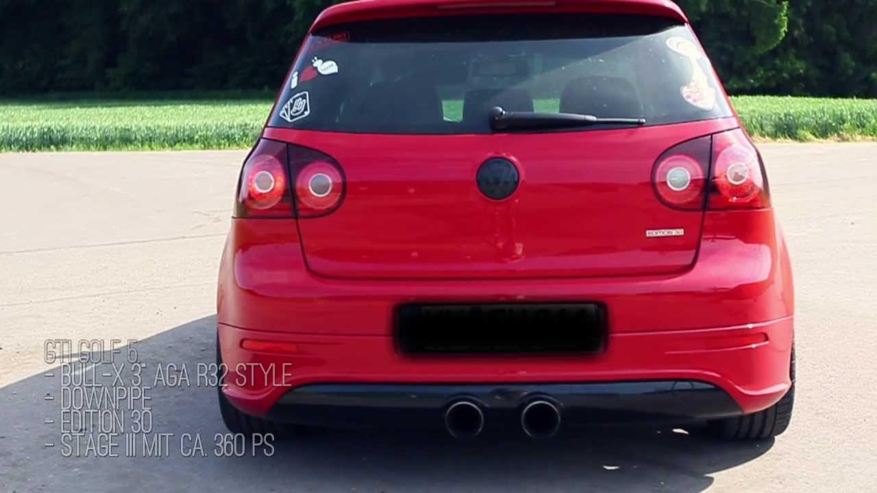 Golf R Vs Gti >> Golf V GTI - Stock vs. Edel01 vs. Bull-X Exhaust Sound ...