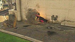 Psycho Dad Blows Up Pink Car