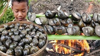 Snail Grilling With Delicious Sauce / Eating Snail with Rice