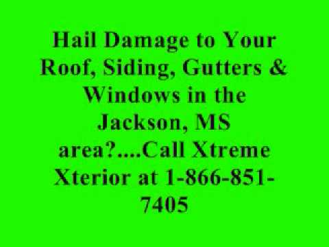 Hail Damage Roof Repair | 601-983-8199 | Jackson Pearl Clinton Brandon McComb MS | Xtreme Xterior