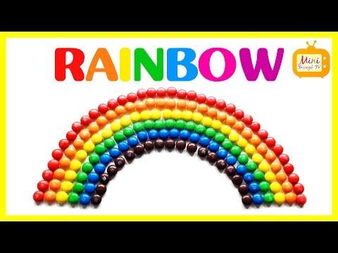 Nauka Angielskiego - Kolory Po Angielsku - RAINBOW - TĘCZA Z M&M'sów - Angielski Dla Dzieci
