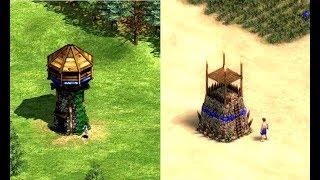 Age Of Empires 2 Vs Age Of Empires: Definitive Edition Building Comparison
