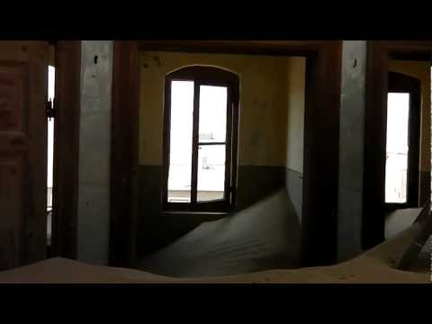 Sand in abandoned miner house at Kolmanskop Ghost Town near Luderitz, Namibia