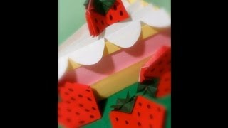 Origami: A Slice of Strawberry Cake