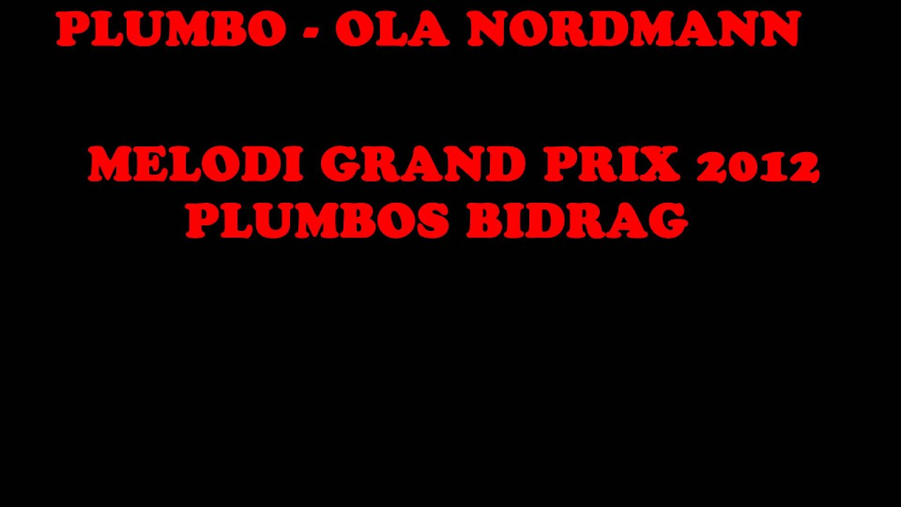 melodi grand prix 2012 erotisk fortelling