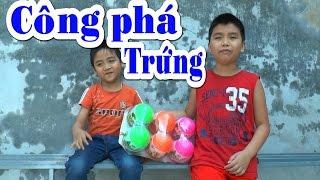 Dương và anh Nam công phá trứng Khủng Long, Break eggs Crisis , Kênh Em Bé ✅