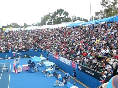 Slow Motion Mexican Wave at Australian Open 2010