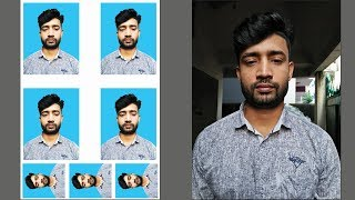 How To Create Passport Size Photo In Photoshop Cs6 Bangla Tutorial