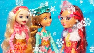 Ever After High Epic Winter Collection Toys Unboxing and Playing with EAH Crystal Winter Sparklizer