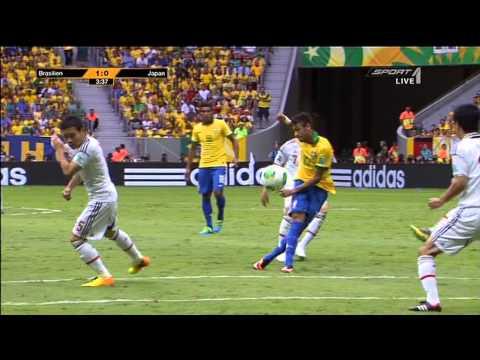 Neymar Amazing Goal vs. Japan - FIFA Confed Cup 2013 Brazil