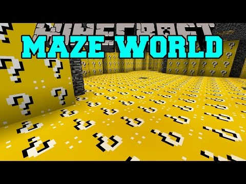 Minecraft: MAZE WORLD (LUCKY BLOCK BIOME & ORESPAWN BIOME!) Mod Showcase