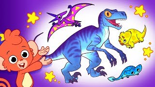 Learn Dinosaurs for Kids | Dinosaur Cartoon videos | TRex Triceratops | Club Baboo
