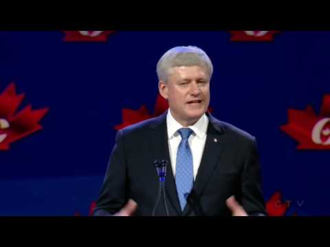 "Stephen Harper Gives Last Speech: ""The past is no place to linger"""