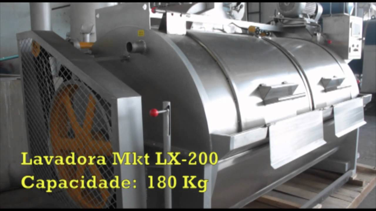 Máquina de Lavar Lx - 200 Capacidade 180 kg - YouTube