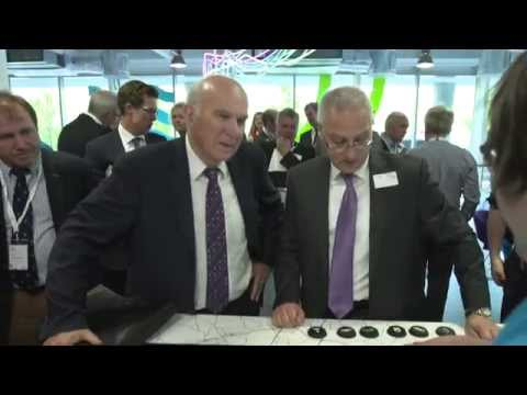 Vince Cable opens UK centre for smart transport technology