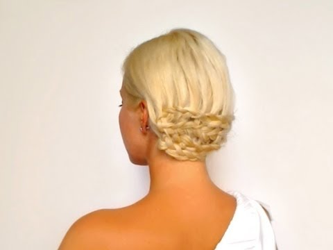 dutch braided prom hairstyle wedding updo for medium long