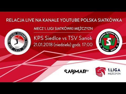 I Liga Siatkówki KPS  Siedlce -  TSV Sanok