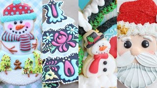 20 Cute Christmas Cookie Compilation - Amazing Cookie decorating with royal icing