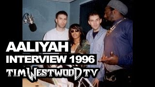 Aaliyah (17yrs old) with Westwood live in 1996! Speaking realness about her work in the industry