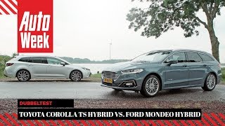 Ford Mondeo Wagon Hybrid vs. Toyota Corolla TS Hybrid - AutoWeek Dubbeltest - English subtitles