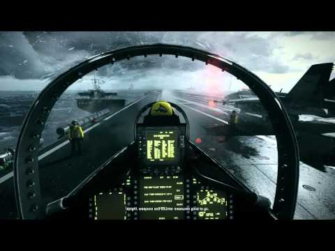 Battlefield 3 MAXED - 2X GTX 580's SLI Config - Ultra Setting 1920X1080 -Jet Carrier Start-
