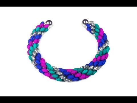 Tutorial: beads style №5 for pandora bracelet / Спиральный жгут из SuperDuo бисера