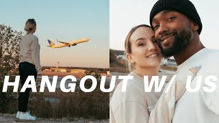 HANGOUT WITH US   watching airplanes & finally trying the impossible burger
