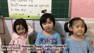 Hannah, Teppi, Julia -LF02- Ending Unit 03 GrapeSEED Interview