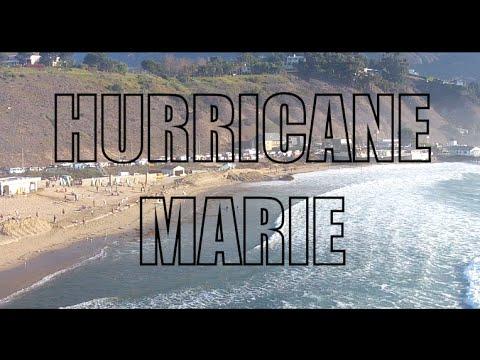 Hurricane Marie by Drone at Surfrider Beach, Malibu 08/27/14