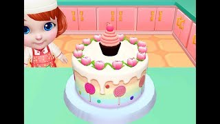 Permainan Anak Perempuan: Main Masak Masakan Anak Membuat Kue Ulang Tahun Pelangi