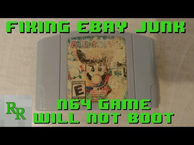 N64 Game Wont Boot - Trace Repair - Mario Party 2 - Fixing eBay Junk