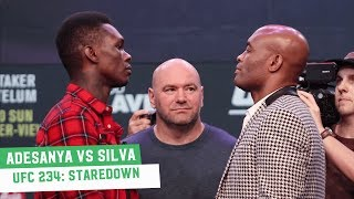 Israel Adesanya vs. Anderson Silva Staredown | UFC 234 Press Conference