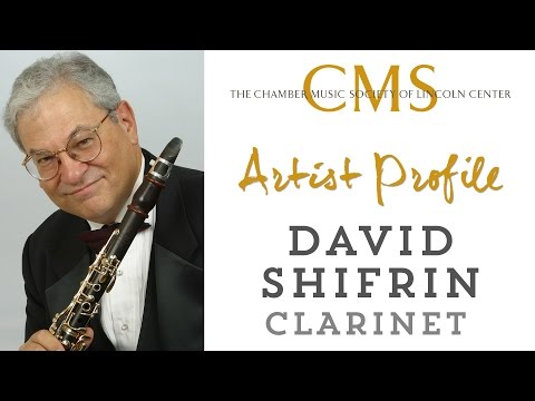 David Shifrin, clarinet -  November 2014 CMS Artist Profile