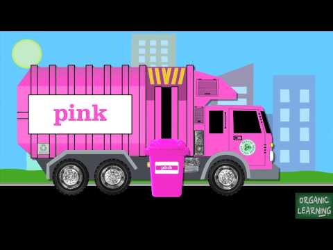 Garbage Trucks Teaching Colors - Learning Basic Colours Video for Kids