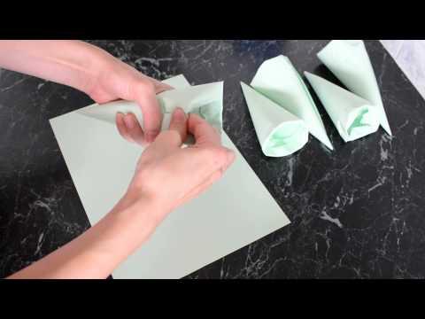 Как сделать конус из картона для трубочек