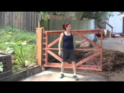 how to build an 8 ft wood gate