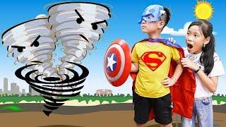 Kind-hearted little superman ♥ Min Min TV Minh Khoa