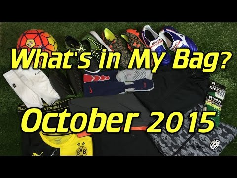 What's In My Soccer Bag - October 2015