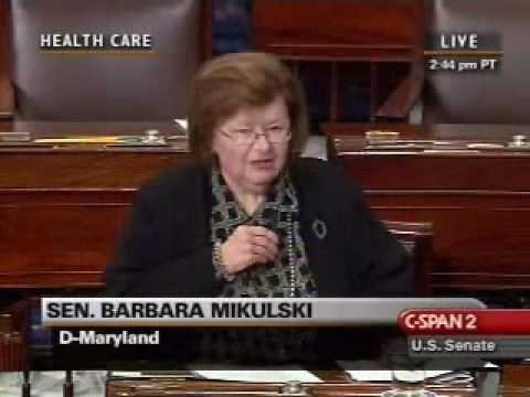 Barbara Mikulski stands up for women's rights in health care debate
