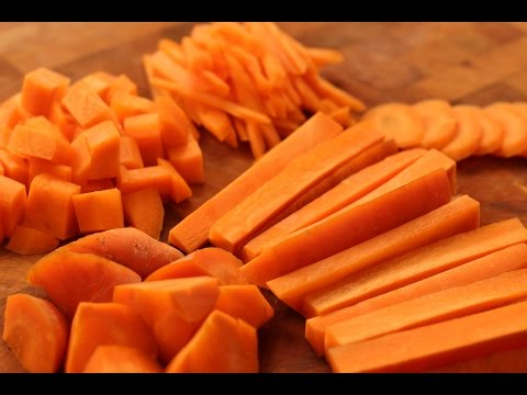 How To Cut Carrots-Dice, Strip, Slice, Julienne, chunck