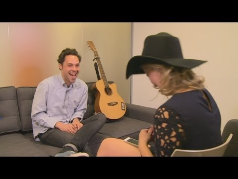 Andy Jordan jokes with ex-girlfriend, in interview about tour and new music