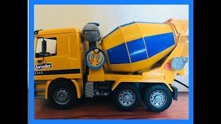 فتح ألعاب سيارات - خلاطة سمنت - العاب اولاد - unboxing toys - cement mixer