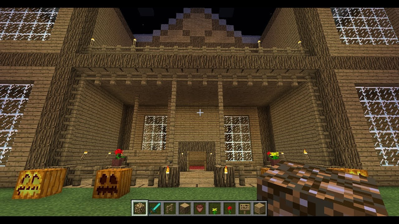 How To Build A Fancy Housemansion In Minecraft YouTube